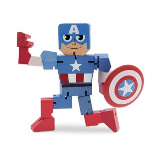 Captain America Wood Warriors Figure 3061056180015P