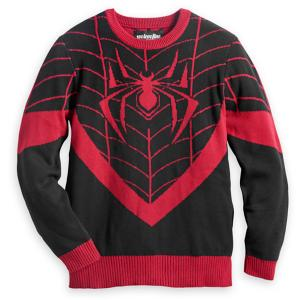 Spider-Man Miles Morales Pullover Sweater for Men by Mighty Fine 3258046310709M