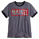 Marvel Comics Logo Ringer Tee for Men