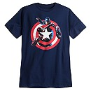 Captain America and Iron Man Tee for Men by Mighty Fine