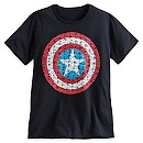 Captain America Text Shield for Men