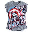 Captain America Logo Sleeveless Tee for Girls
