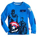 Captain America and Iron Man Long Sleeve Tee for Boys