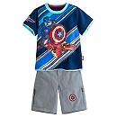 Captain America: Civil War Tee and Shorts Set for Boys