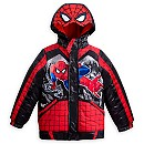 Spider-Man Hooded Puffy Jacket for Boys