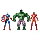 Avengers Iron Man, Hulk and Captain America Action Figure Gift Set
