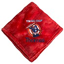Captain America Fleece Throw - Personalizable