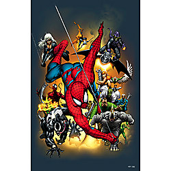 ''Marvel Universe Hand Book Spider-Man 2004'' Giclée on Canvas