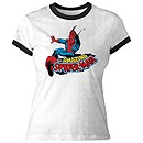 Spider-Man Ringer Tee for Women - Create Your Own