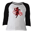 Black Widow Raglan Long Sleeve Tee for Women - Customizable